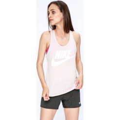 Nike Sportswear - Top. Szare topy sportowe damskie Nike Sportswear, l, z nadrukiem, z dzianiny, bez rękawów. W wyprzedaży za 79,90 zł.