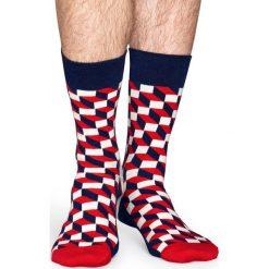 Happy Socks - Skarpety Filled Optic. Szare skarpetki męskie Happy Socks. W wyprzedaży za 29,90 zł.