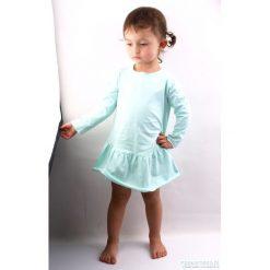Sukienki dziewczęce dzianinowe: miętowa sukienka
