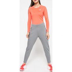 Adidas Performance - Spodnie. Szare bryczesy damskie adidas Performance, l, z elastanu. W wyprzedaży za 219,90 zł.