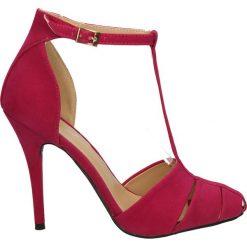 CZÓŁENKA CASU K9048. Czerwone buty ślubne damskie Casu, na koturnie. Za 64,99 zł.