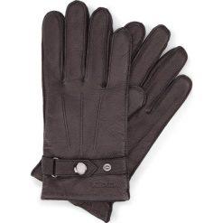 Rękawiczki męskie 44-6-234-1. Czarne rękawiczki męskie Wittchen, w paski, z nylonu. Za 99,00 zł.