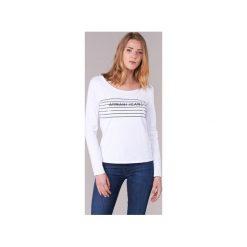 T-shirty z długim rękawem Armani jeans  LAMORET. Czarne t-shirty damskie marki Armani Jeans, z jeansu. Za 335,20 zł.