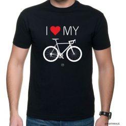 Koszulka T-SHIRT Love Bike. Czarne t-shirty męskie z nadrukiem Pakamera, m. Za 75,00 zł.