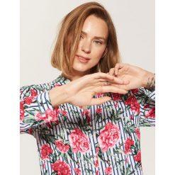 Koszula w kwiaty - Pomarańczo. Szare koszule damskie marki House, l, w kwiaty. W wyprzedaży za 39,99 zł.
