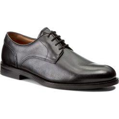 Półbuty CLARKS - Coling Walk 261193517 Black Leather. Czarne półbuty męskie Clarks, z materiału. W wyprzedaży za 369,00 zł.