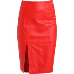 Spódniczki skórzane: JUST FEMALE BEATE  Spódnica skórzana aurora red