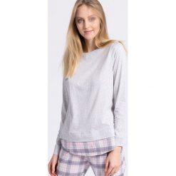 Triumph - Bluzka piżamowa. Szare bluzki z odkrytymi ramionami marki Triumph, m, z bawełny, z okrągłym kołnierzem. W wyprzedaży za 49,90 zł.