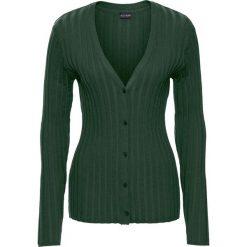 Sweter rozpinany w prążek bonprix głęboki zielony. Szare kardigany damskie marki Mohito, l. Za 59,99 zł.