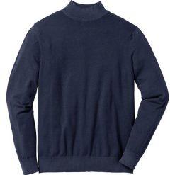 Sweter ze stójką Regular Fit bonprix ciemnoniebieski. Niebieskie golfy męskie marki bonprix, l, z dzianiny. Za 79,99 zł.