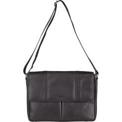 Torebki klasyczne damskie: Skórzana torebka w kolorze czarnym - 37 x 26 x 7 cm