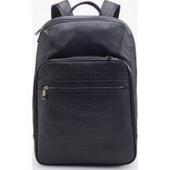 Skórzany plecak - Czarny. Czarne plecaki męskie marki Reserved. Za 499,99 zł.
