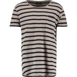 T-shirty męskie z nadrukiem: Tigha LENO STRIPES Tshirt z nadrukiem black/mud