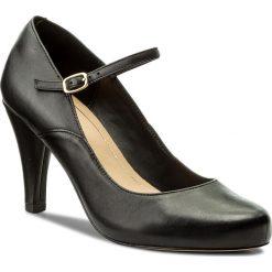 Półbuty CLARKS - Dalia Lily 261332714 Black Leather. Czarne półbuty damskie skórzane Clarks, na obcasie. W wyprzedaży za 269,00 zł.