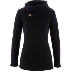 Sweter bonprix czarny. Czarne swetry klasyczne damskie bonprix, z materiału, ze stójką. Za 74,99 zł.