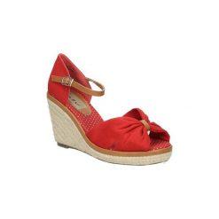 Sandały Casu  Sandały na koturnie  7SF-QH84516F. Różowe sandały damskie Casu, na koturnie. Za 39,99 zł.