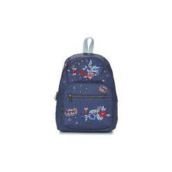 Plecaki Desigual  DENIM FLOWERS LIMA ROTTERDAM. Szare plecaki damskie marki Desigual, l, z tkaniny, casualowe, z długim rękawem. Za 279,20 zł.