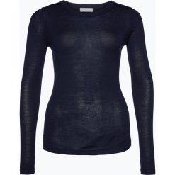 Brookshire - Damski sweter z wełny merino, niebieski. Czarne swetry klasyczne damskie marki brookshire, m, w paski, z dżerseju. Za 179,95 zł.