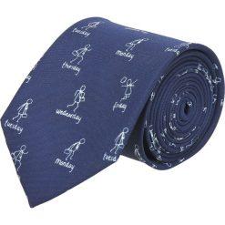 Krawat platinum granatowy classic 258. Niebieskie krawaty męskie Recman. Za 49,00 zł.
