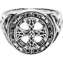 Sygnety męskie: etNox Magic and Mystic Silver Celtic Cross Pierścień standard