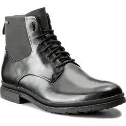 Kozaki CLARKS - Londonpace Gtx GORE-TEX 261269287 Black Leather. Czarne buty zimowe męskie marki Clarks, z gore-texu. W wyprzedaży za 469,00 zł.