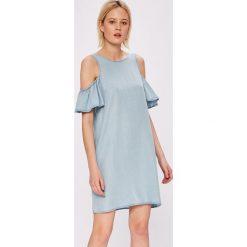 Noisy May - Sukienka Haylie. Szare sukienki mini marki Noisy May, na co dzień, l, z lyocellu, casualowe, z okrągłym kołnierzem, z krótkim rękawem. W wyprzedaży za 99,90 zł.