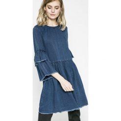 Only - Sukienka. Szare sukienki na komunię marki ONLY, s, z bawełny, casualowe, z okrągłym kołnierzem. W wyprzedaży za 99,90 zł.