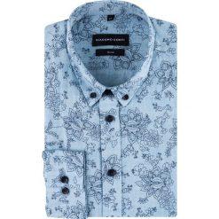 Koszula SIMONE slim KDNS000517. Czarne koszule męskie na spinki marki Giacomo Conti, m, z bawełny, z klasycznym kołnierzykiem. Za 169,00 zł.