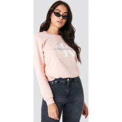 Calvin Klein Bluza Monogram Logo - Pink. Różowe bluzy rozpinane damskie Calvin Klein, z dzianiny. Za 404,95 zł.