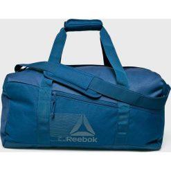 Reebok - Torba. Niebieskie torebki klasyczne damskie Reebok, w paski, z materiału. Za 139,90 zł.