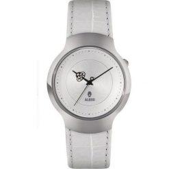 Zegarki damskie: Zegarek damski Dressed biały skórzany pasek