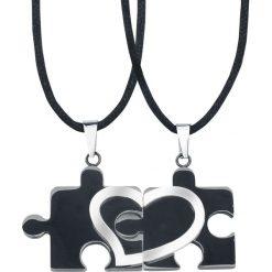 Puzzle Heart Wisiorek + Rzemyk standard. Czarne łańcuszki męskie Puzzle Heart, ze stali. Za 99,90 zł.