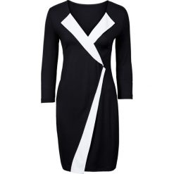 Sukienki balowe: Sukienka z dżerseju bonprix czarno-biel wełny