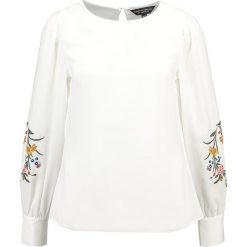 Bluzki asymetryczne: Dorothy Perkins EMBROIDERED BLOUSON  Bluzka off white