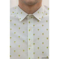 Koszula męska - Palms. Białe koszule męskie na spinki marki Pakamera. Za 186,00 zł.
