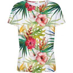 Colour Pleasure Koszulka damska CP-030 160 biało-zielona r. M/L. Białe bluzki damskie marki Colour pleasure, l. Za 70,35 zł.