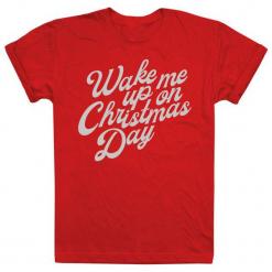 Christmas T-Shirt T-Shirt Damski Wake Me Up On Christmas Day L Czerwony. Czerwone t-shirty damskie Christmas T-Shirt, l. Za 45,00 zł.