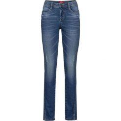 """Dżinsy """"authentik-stretch"""", krótsze nogawki SLIM bonprix niebieski. Niebieskie jeansy damskie slim marki bonprix. Za 89,99 zł."""