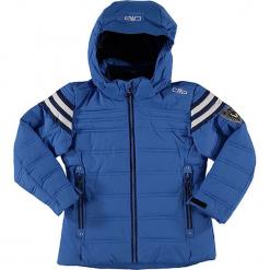 Kurtka narciarska w kolorze niebieskim. Niebieskie kurtki dziewczęce przeciwdeszczowe marki CMP Kids, z materiału. W wyprzedaży za 209,95 zł.