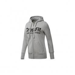 Bluzy Reebok Sport  Bluza z kapturem  CrossFit Full Zip. Szare bluzy sportowe damskie Reebok Sport, l, z kapturem. Za 279,00 zł.