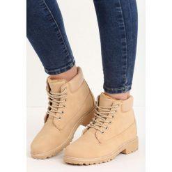 Buty zimowe damskie: Beżowe Traperki Snowguard
