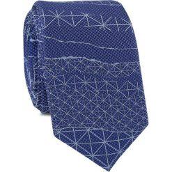 Krawat KWNR001456. Niebieskie krawaty męskie Giacomo Conti, z mikrofibry. Za 69,00 zł.