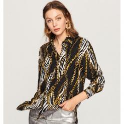 Koszula z motywem zwierzęcym - Wielobarwn. Szare koszule damskie Reserved, z motywem zwierzęcym. Za 119,99 zł.