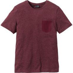 T-shirty męskie: T-shirt Slim Fit bonprix bordowy melanż