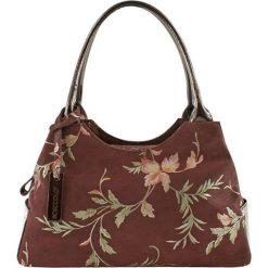 Torebki klasyczne damskie: Skórzana torebka w kolorze bordowym – (S)38 x (W)15 x (G)22 cm