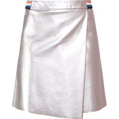 BOSS CASUAL BAMETTY Spódnica trapezowa silver. Szare spódniczki trapezowe BOSS Casual, z materiału, casualowe. Za 579,00 zł.