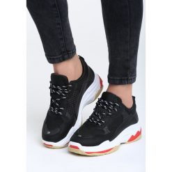 Czarne Sneakersy Wonderwall. Czarne sneakersy damskie other, z materiału. Za 89,99 zł.