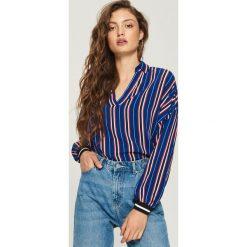 Koszule wiązane damskie: Koszula w paski - Wielobarwn