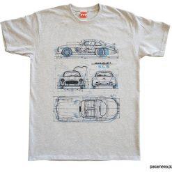 Koszulka MERCEDES GULLWING GRAY tshirt. Szare t-shirty męskie z nadrukiem marki Pakamera, m. Za 77,00 zł.