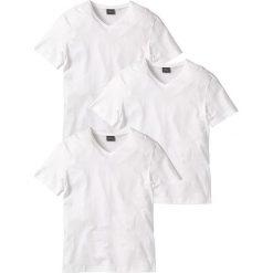 T-shirt z dekoltem w serek (3 szt.) Regular Fit bonprix 3x biały. Białe t-shirty męskie bonprix, l, z dekoltem w serek. Za 74,97 zł.
